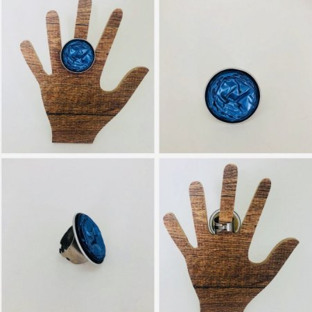 Anel Cápsulas de Café Tons de Azul