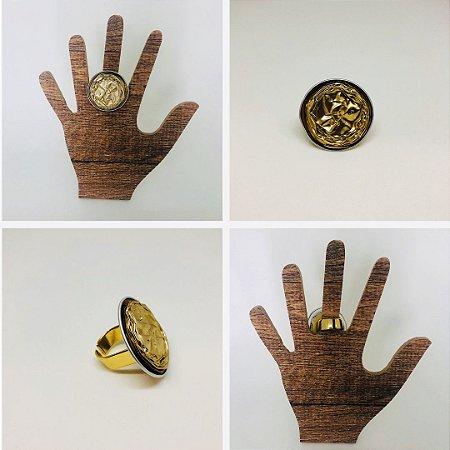 Maxi Anel Tons Dourados Sustentável
