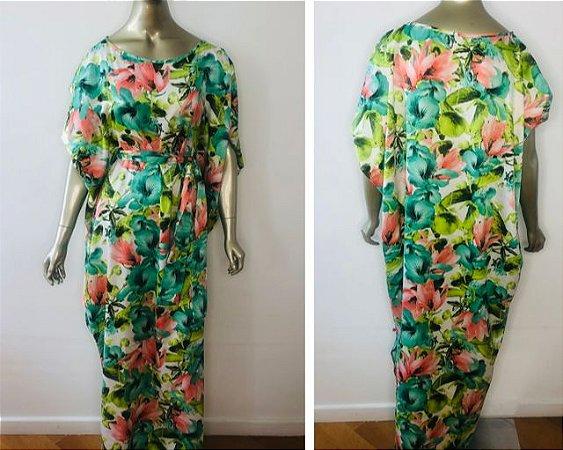 Vestido-Túnica Longo Floral P