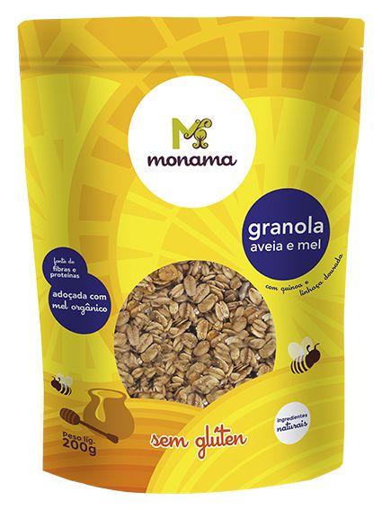 Granola Monama Aveia e Mel Saudável Sem Glúten 200g