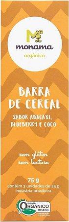 Tripack Barra de Cereal Monama sabor Abacaxi - 03 unidades de 25g - Sem Glúten
