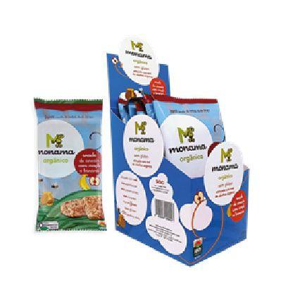 Snack Cereais Monama Orgânico Saudável Sem Glúten Maçã e Banana - 06 unidades de 30g