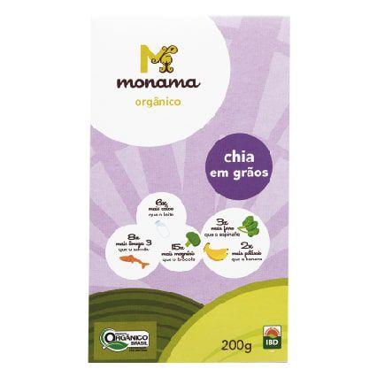 Semente de Chia Orgânica Monama 200g