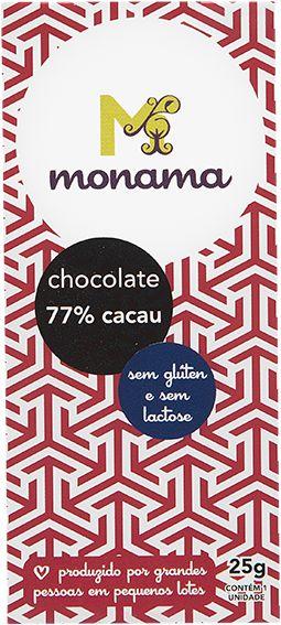 Chocolate 77% Monama Vegano 25g