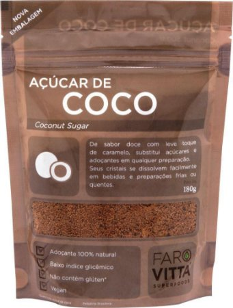 Açúcar de Coco Farovitta 180g