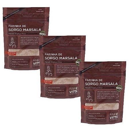 kit 3 Farinhas de Sorgo Marsala