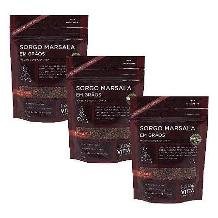 Kit 3 Sorgos Marsala em Grãos- 5% OFF