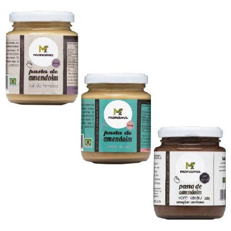 Kit Pastas de Amendoim - 3 Sabores - 10% OFF