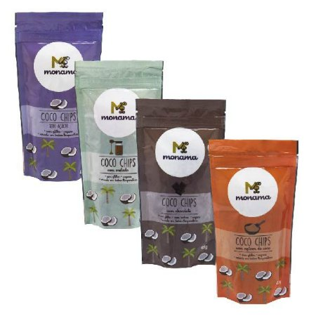 Kit Coco Chips - 4 Sabores