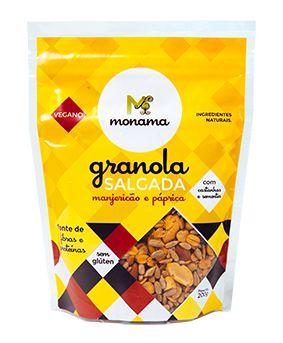 Granola Salgada Monama Manjeiricão e Páprica S/ Glúten 200g