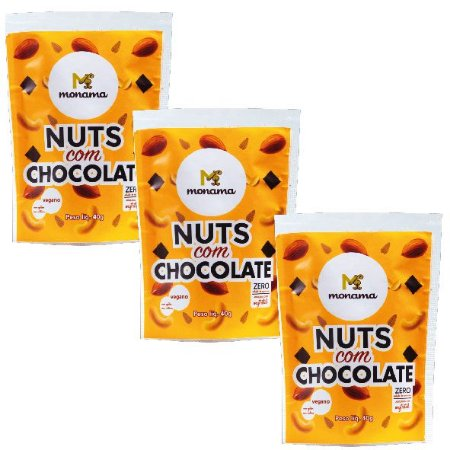 Kit 3 Nuts Com Chocolate
