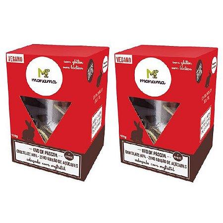Kit 2 Ovos de Páscoa - Chocolate 80% ZERO AÇÚCAR