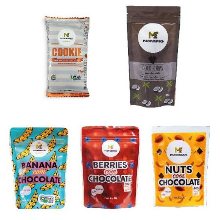 Kit 5 Snacks com Chocolate