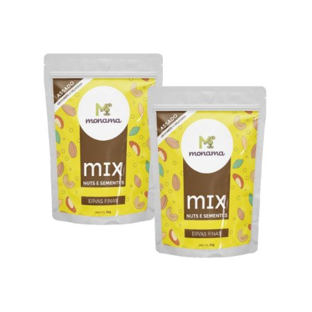 2 Snacks Mix Nuts e Sementes Ervas Finas Monama