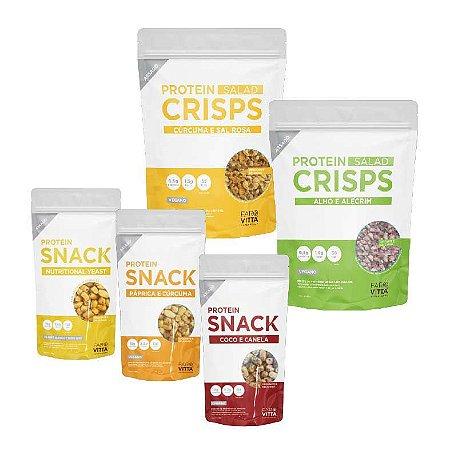 Kit Protein Snacks e Crisps