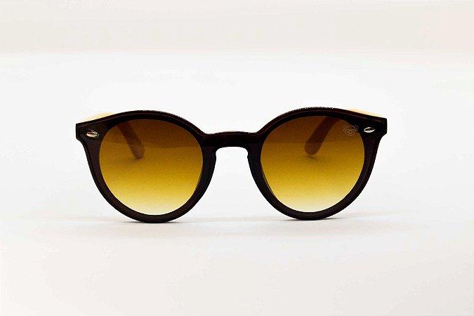 Óculos solar com hastes em bambu Urban No Frame