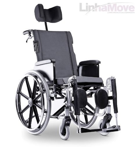 Cadeira de Rodas Ortobras - AVD Alumínio Reclinável