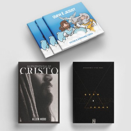 COMBO 3 Livros sobre Jesus