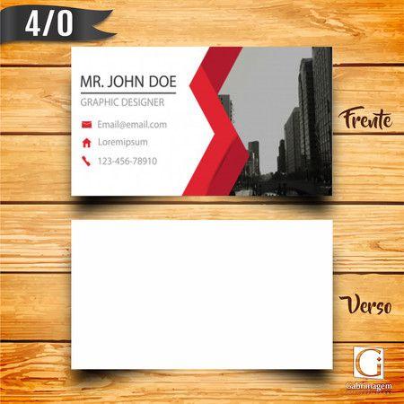 Cartão de Visita 4/0 Couché 250g Arte Grátis