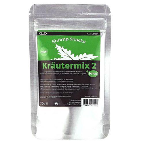 Ração GlasGarten Shrimp Snacks Herbal Mix 2 + Mint 30g