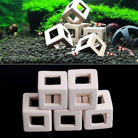 Abrigo de Cerâmica Branco 2 x 2 cm Importado para camarões Unitário