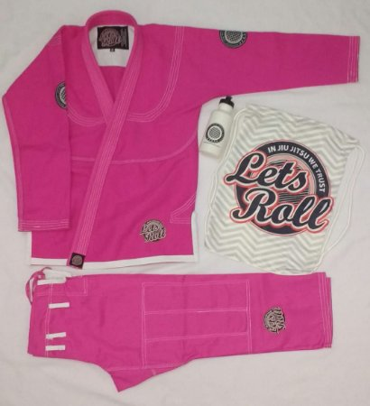 Kimono Trançado Lets Roll Classic Rosa