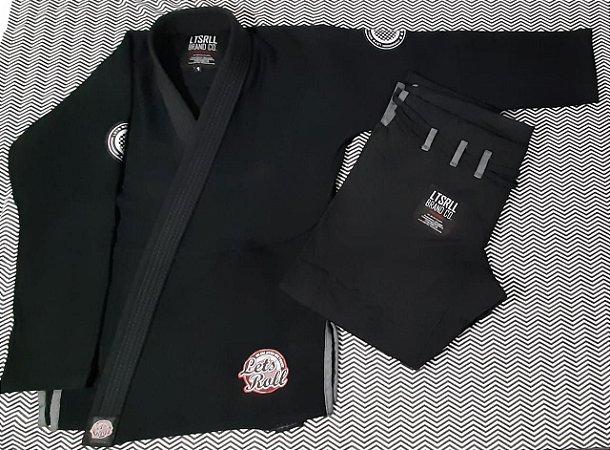 Kimono Trançado Lets Roll COMP Preto