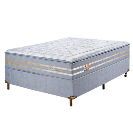 Cama Box Sonos Confort In Molas Ensacadas Casal 138x188
