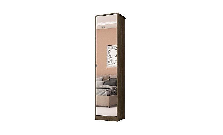 Multiuso Demobile Reflex II 1 Porta c/ Espelho Ébano/Tou