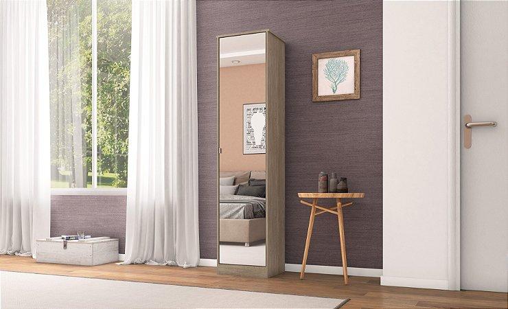 Multiuso Demobile Reflex II 1 Porta c/ Espelho Nogueira/Tou