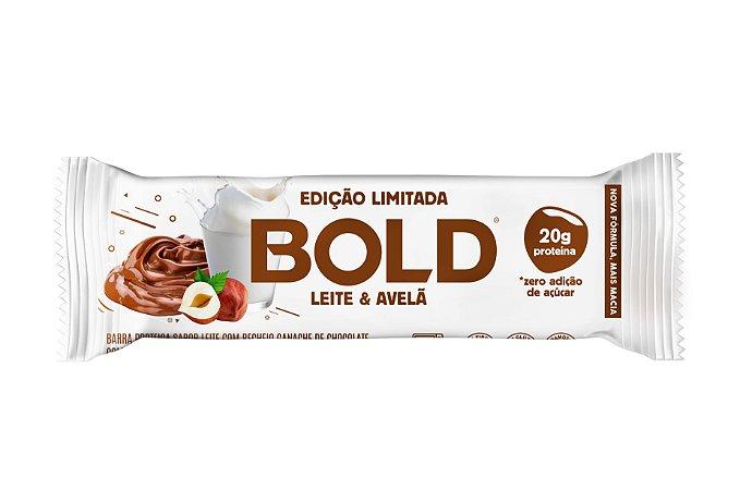 Barra de proteína sabor leite e avelã Bold 60g