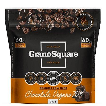 Granola com chocolate vegano 70% GranoSquare 200g