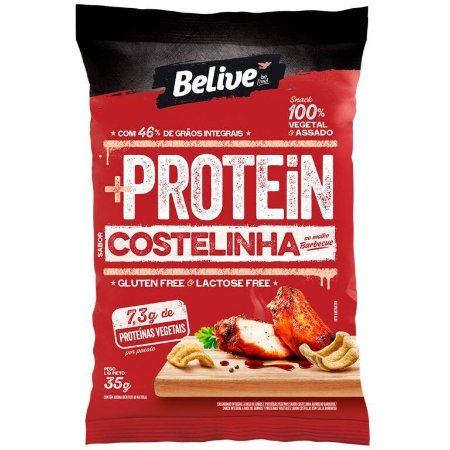 Snack protein sabor costelinha barbecue Belive 35g