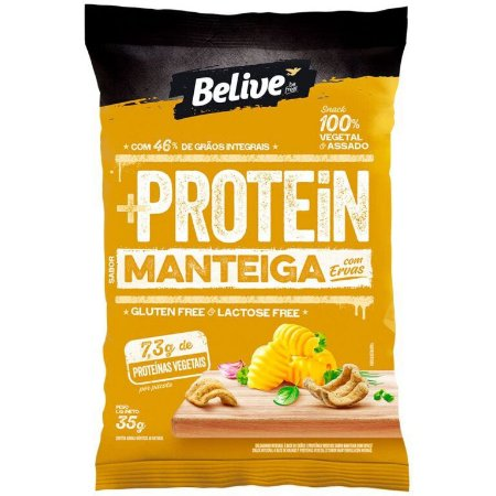 Snack protein sabor manteiga e ervas Belive 35g