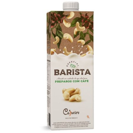 Bebida vegetal barista de castanha de caju ideal para preparo de café Cajueiro 1l