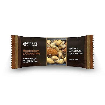Barra de cereal amendoim e chocolate 70% Hart's 35g