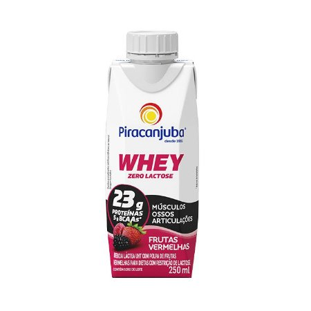 Bebida láctea com whey sabor frutas vermelhas Piracanjuba 250ml