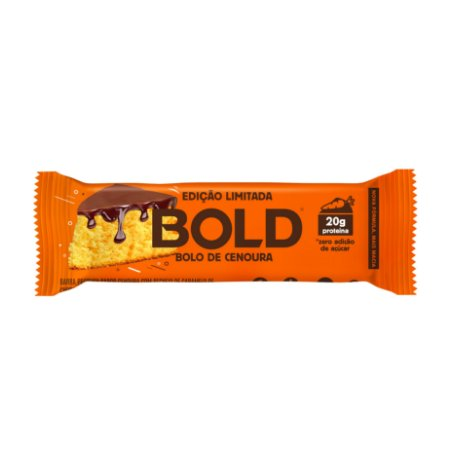 Barra de proteína sabor bolo de cenoura Bold 60g