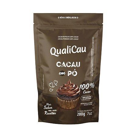 Chocolate em pó 100% cacau Qualicoco 200g