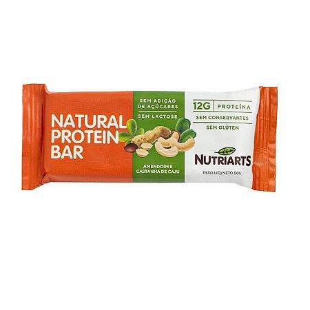 Barra de proteína sabor amendoim e castanha caju Nutriarts 50g