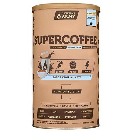 Supercoffee economic size sabor vanilla latte Cafeinne Army 380g