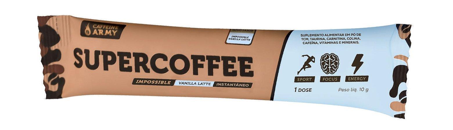 Supercoffee sabor vanilla Cafeinne Army sache 10g