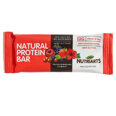 Barra de proteína sabor frutas vermelhas e hibisco Nutriarts 50g