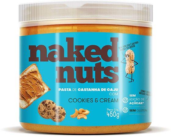 Pasta de castanha de caju com cookies e cream Naked Nuts 450g