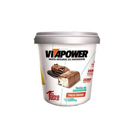 Pasta de amendoim press cream Vitapower 1kg