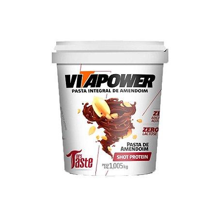 Pasta de amendoim shot protein Vitapower 1kg