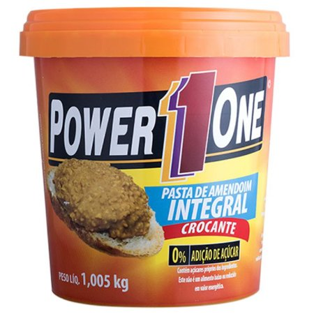 Pasta de amendoim crocante Powerone 1kg