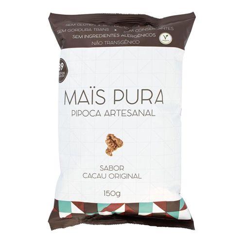 Pipoca artesanal sabor cacau original Mais Pura 150g