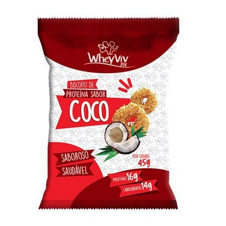 Cookies com whey protein coco Wheyviv fit 45g