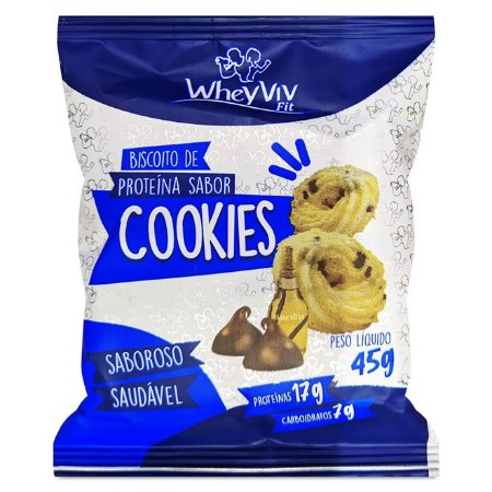 Cookies com whey protein cookies Wheyviv fit 45g